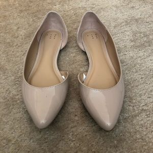 Nude ballet flats. Size 8.5.